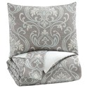Signature Design by Ashley Bedding Sets King Noel Gray/Tan Comforter Set