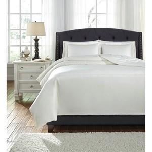 King Maurilio White Comforter Set