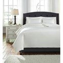 Ashley (Signature Design) Bedding Sets Queen Maurilio White Comforter Set - Item Number: Q781003Q