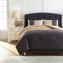 Trendz Bedding Sets Queen Medi Charcoal/Sand Comforter Set - Item Number: Q783003Q