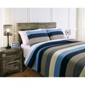 Signature Design by Ashley Bedding Sets Full Winifred Blue/Gray/Tan Bedding Set