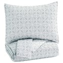 Signature Design by Ashley Bedding Sets King Mayda Gray/White Quilt Set