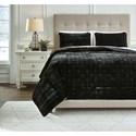 Signature Design by Ashley Bedding Sets Queen Dairick Black Quilt Set - Item Number: Q903003Q