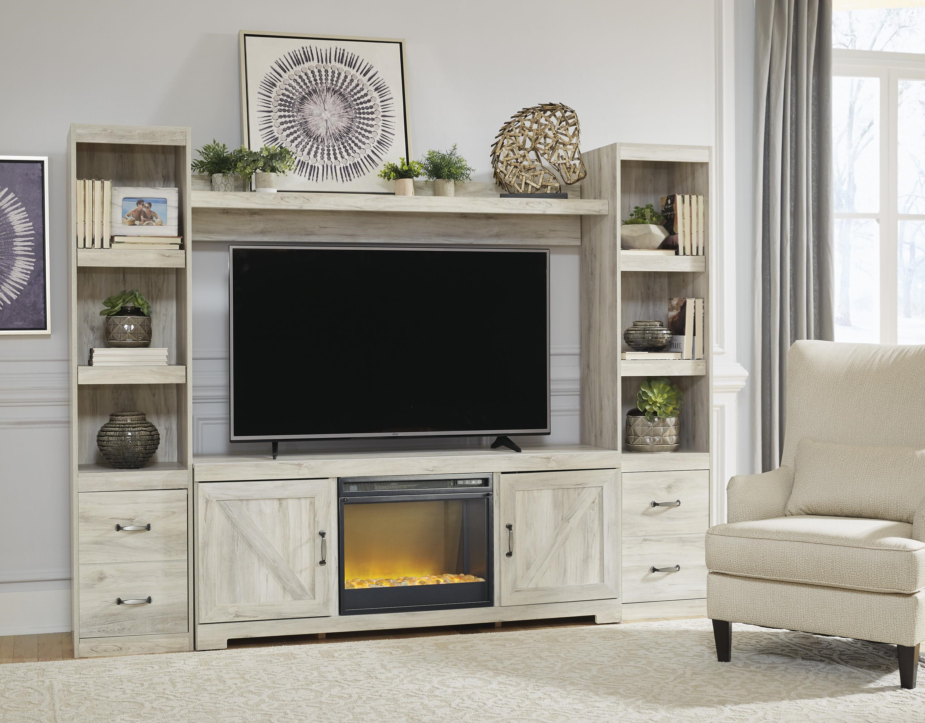"3 PC 63"" Tv Stand Entertainment Center w/ Fi"