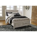 Signature Design by Ashley Bellaby Queen Panel Bed with Storage Footboard - Item Number: B331-57+95+54S+B100-13