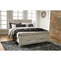 Signature Design by Ashley Bellaby King Panel Bed with Storage Footboard - Item Number: B331-58+95+56S+B100-14
