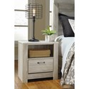 Signature Design by Ashley Bellaby One Drawer Night Stand with USB Ports