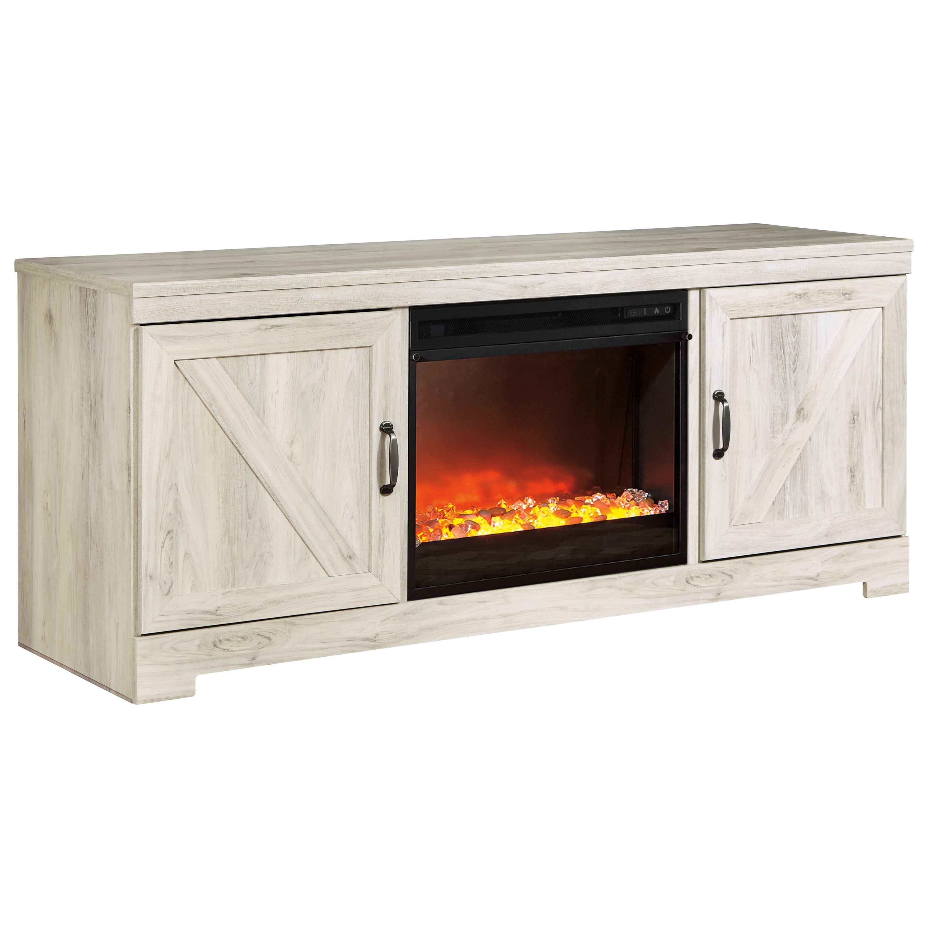 Large TV Stand with Fireplace