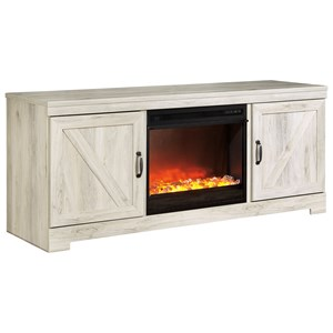 Signature Design by Ashley Bellaby Large TV Stand with Fireplace