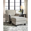 Signature Design by Ashley Benbrook Traditional Ottoman with Turned Bun Feet