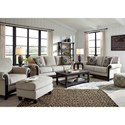 Signature Design by Ashley Benbrook Traditional Loveseat with Turned Bun Feet