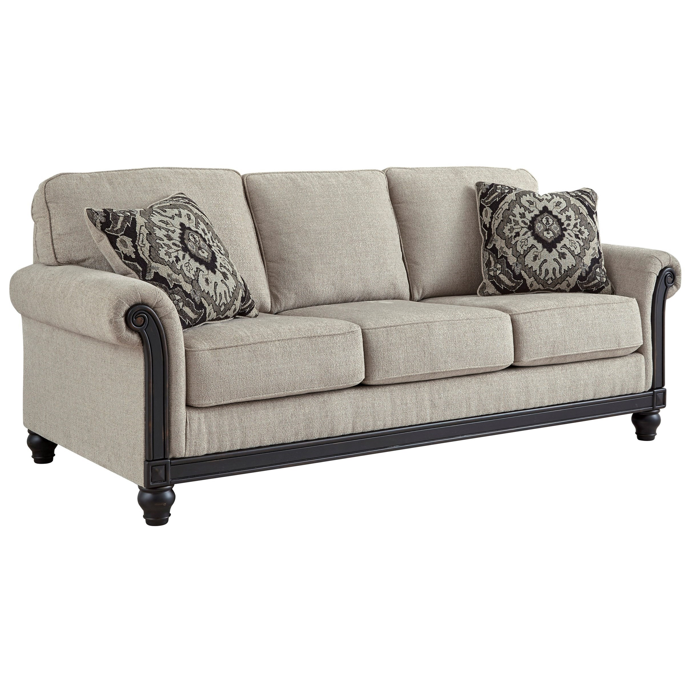 Signature Design By Ashley Benbrook Traditional Sofa With Turned Bun Feet | Lindy