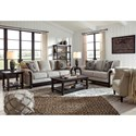 Signature Design by Ashley Benbrook Traditional Sofa with Turned Bun Feet