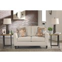 Signature Design by Ashley Benissa Contemporary Loveseat with Button Tufting