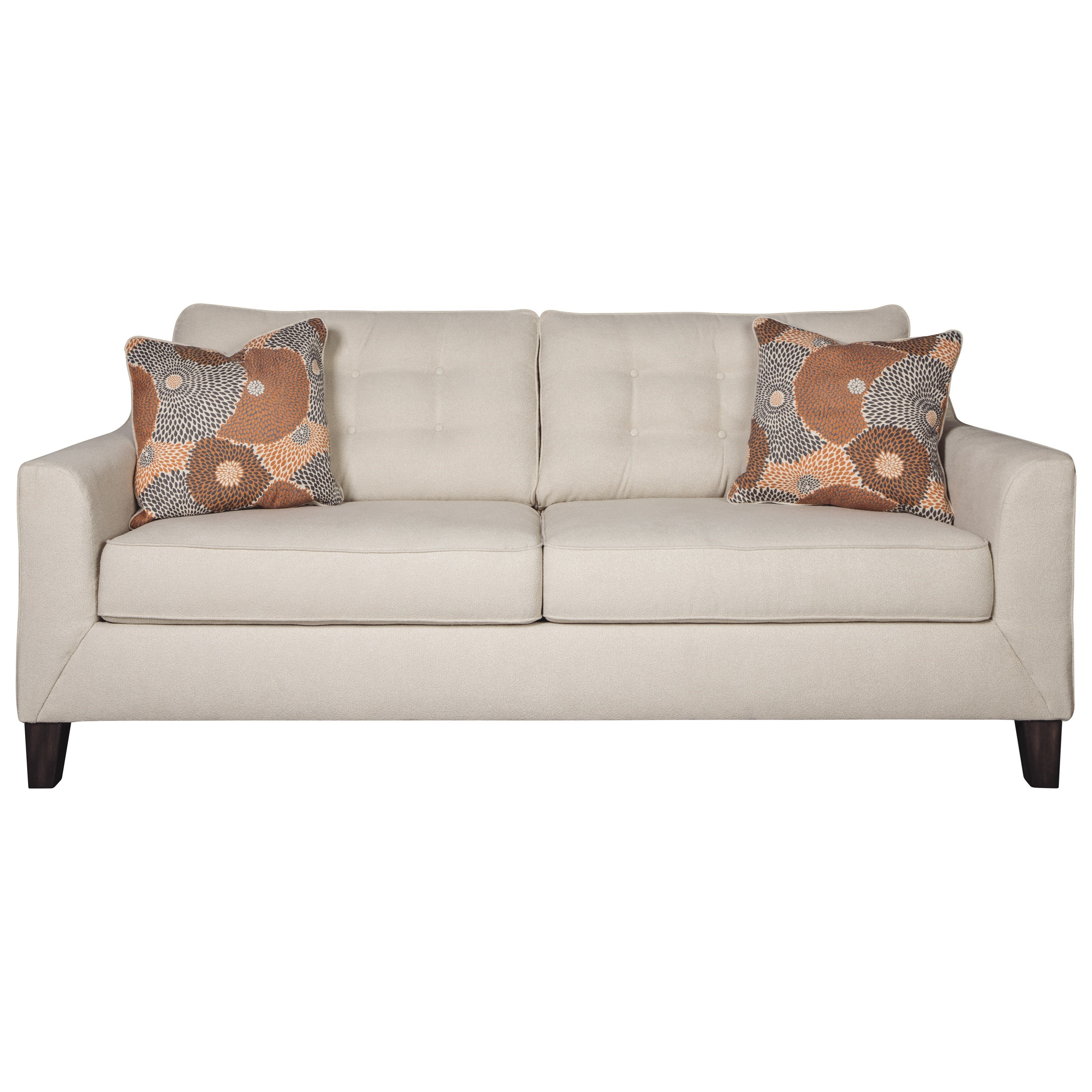 - Signature Design By Ashley Benissa Contemporary Queen Sofa Sleeper