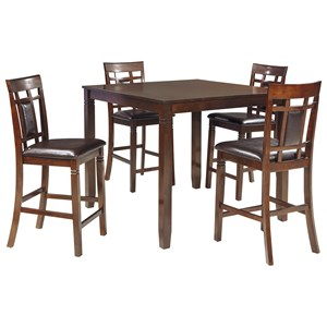 Ashley Signature Design Bennox 5-Piece Dining Room Counter Table Set