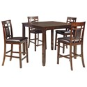 Signature Design by Ashley Bennox 5-Piece Dining Room Counter Table Set - Item Number: D384-223