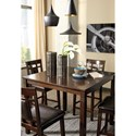 Signature Design by Ashley Bennox Contemporary 5-Piece Dining Room Counter Table Set