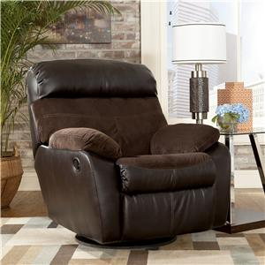 Signature Design by Ashley Berneen - Coffee Swivel Rocker Recliner