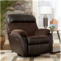 Signature Design by Ashley Berneen - Coffee Swivel Rocker Recliner - Item Number: 5450128