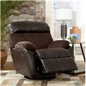 Signature Design by Ashley Berneen - Coffee Swivel Rocker Recliner - Recliner Shown May Not Represent Exact Features Indicated