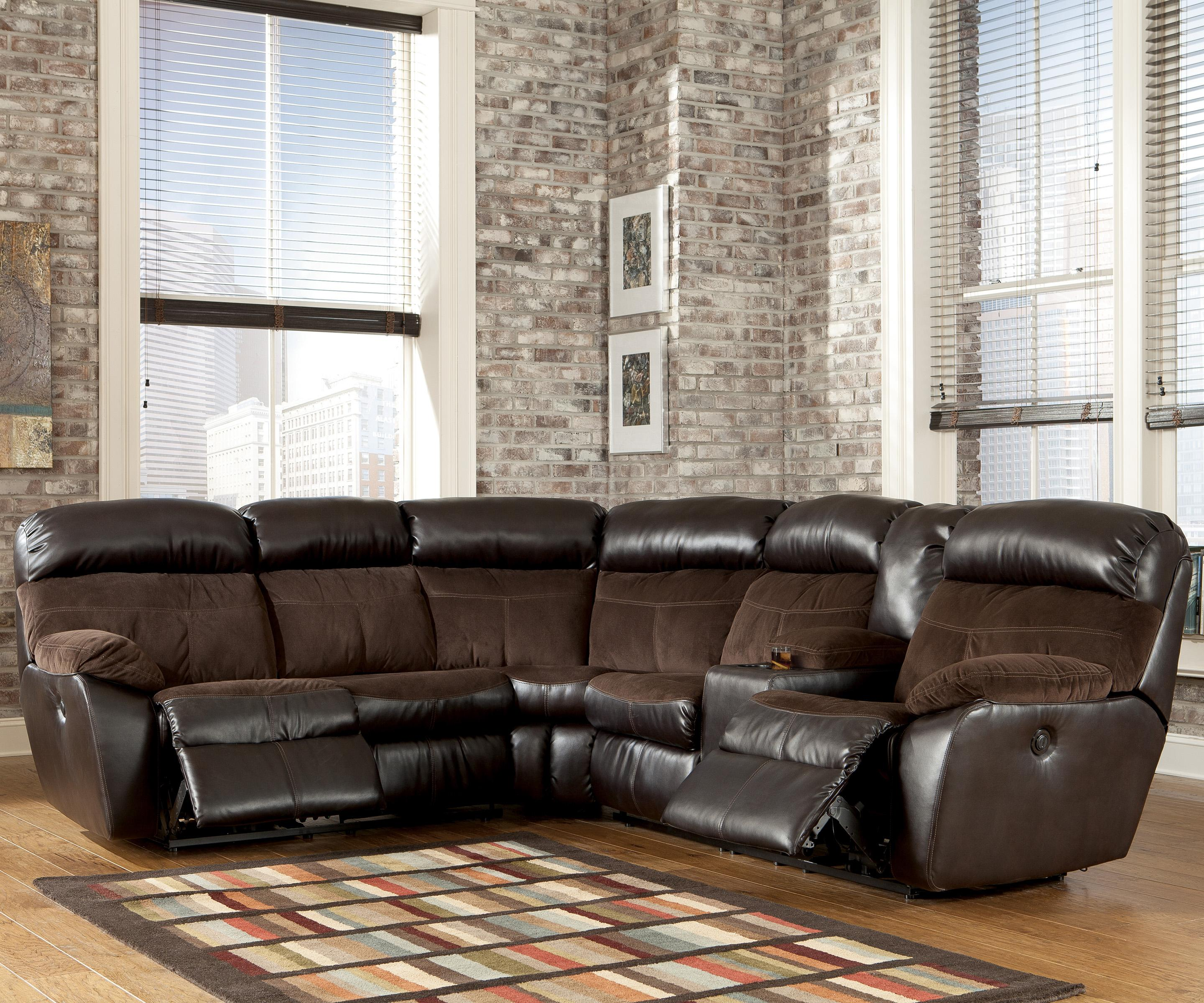 Signature Design by Ashley Berneen Coffee Reclining Sectional