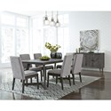 Signature Design by Ashley Besteneer Formal Dining Room Group - Item Number: D568 Dining Room Group 1