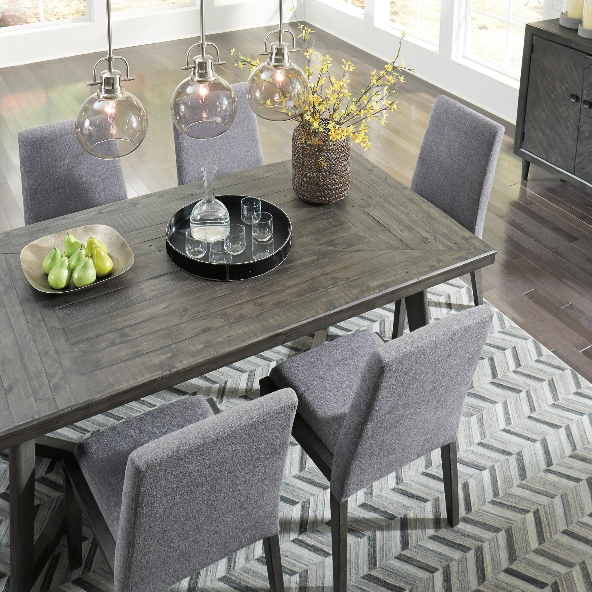 Signature Design By Ashley Besteneer Formal Dining Room: Signature Design By Ashley Besteneer D568-25 Contemporary