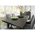 Signature Design by Ashley Besteneer Contemporary Rectangular Dining Table with Distressed Finish