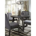 Signature Design by Ashley Besteneer Contemporary Round Dining Table with Distressed Finish