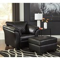 Signature Design by Ashley Betrillo Chair and Ottoman Set - Item Number: 4050220+14