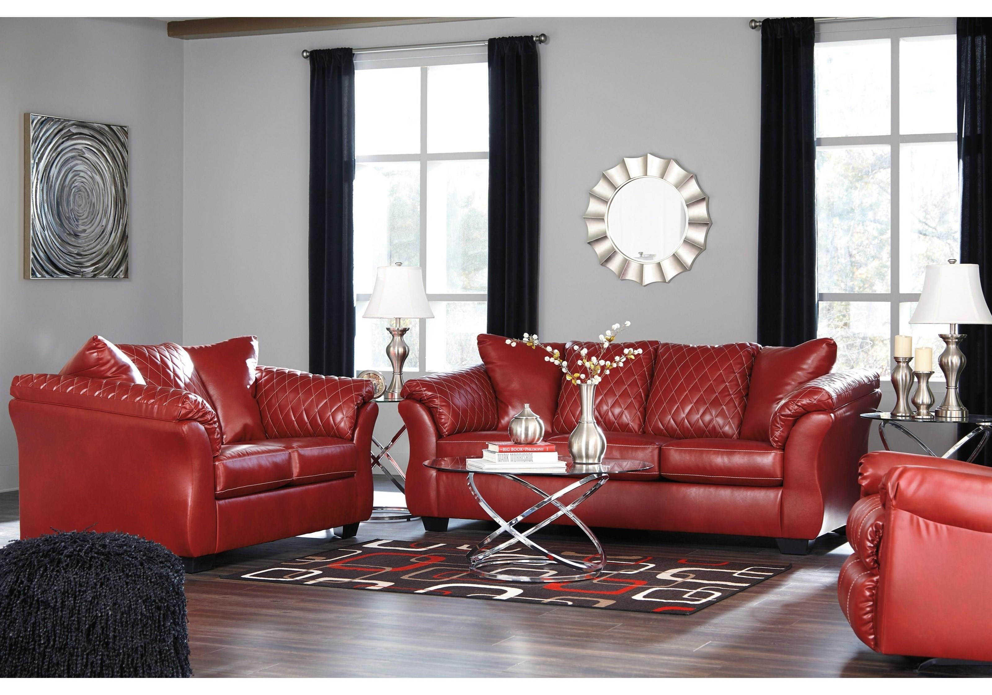 Contemporary Full Sofa & Love Seat with Padd