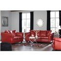 Signature Design by Ashley Betrillo Contemporary Full Sofa & Love Seat with Padd - Item Number: 40504 FREE RECLINER