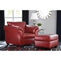 Ashley (Signature Design) Betrillo Chair and Ottoman Set - Item Number: 4050420+14