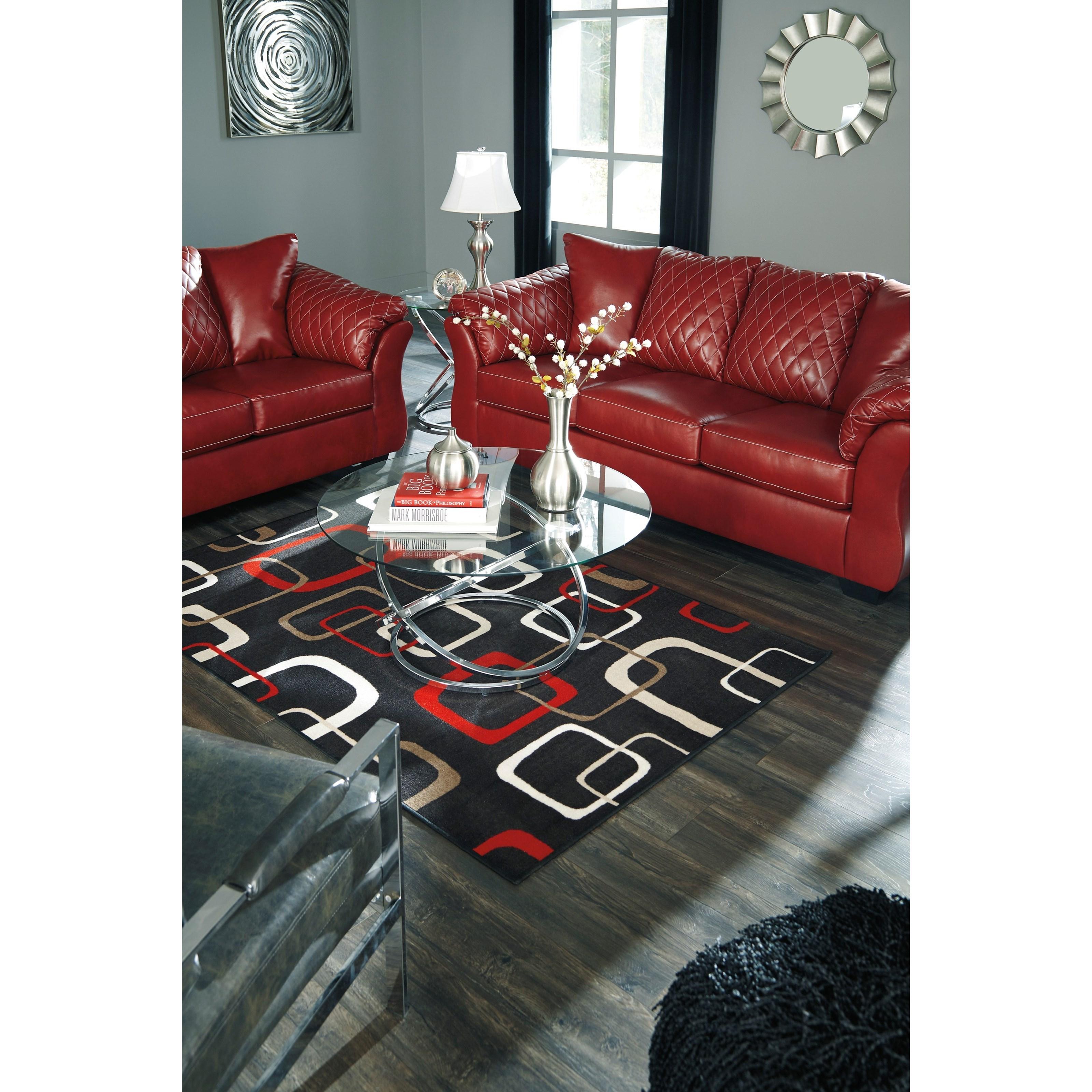Signature Design By Ashley Betrillo Contemporary Sofa With