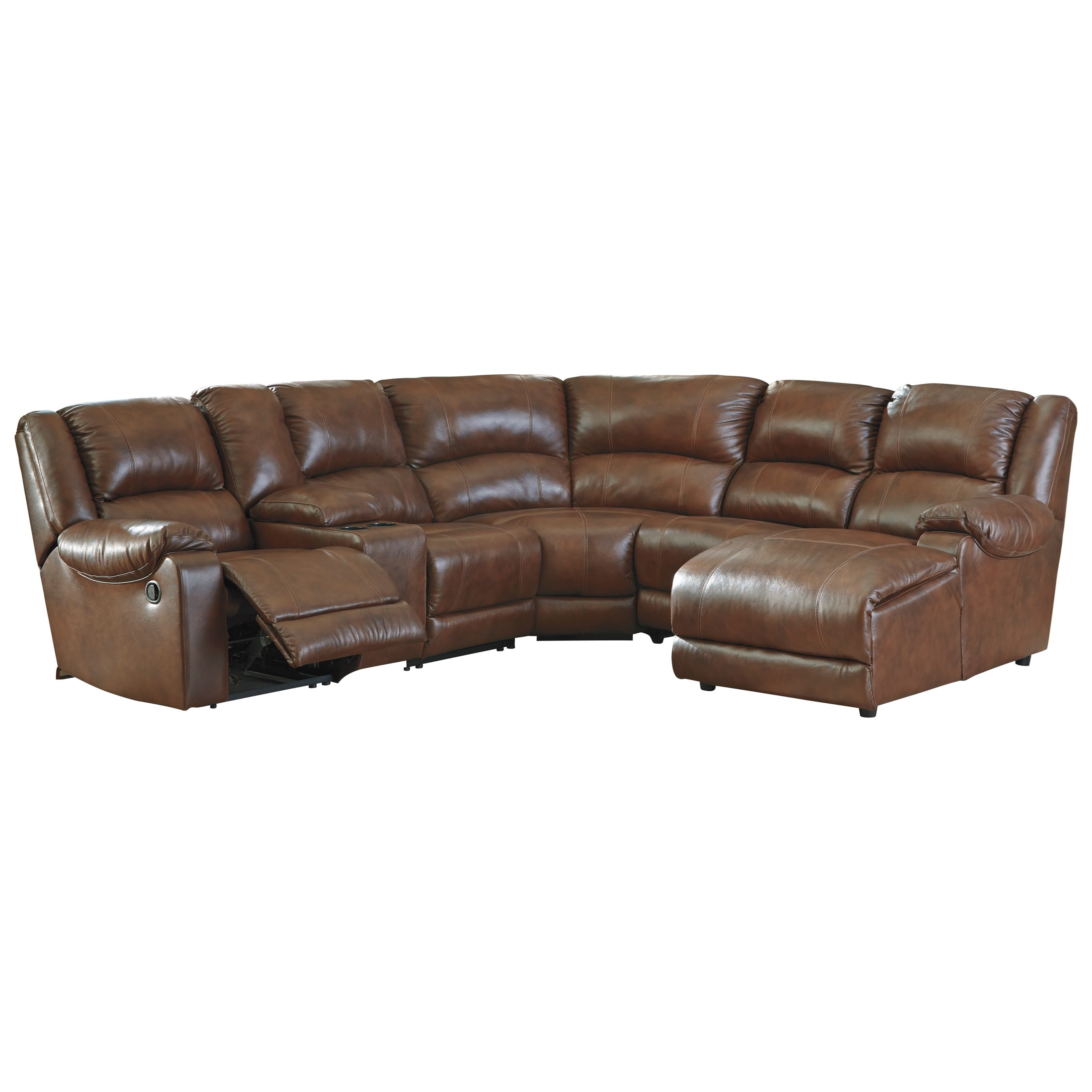 Signature design by ashley billwedge leather match for Ashley leather sectional with chaise