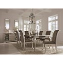 Signature Design by Ashley Birlanny Glam Dining Upholstered Side Chair in Silver Finish