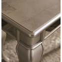 Signature Design by Ashley Birlanny Glam 7-Piece Rectangular Dining Table Set in Silver Finish
