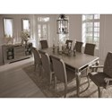 Signature Design by Ashley Birlanny Glam Dining Room Server with Antique Mirror Accents