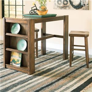 Signature Design by Ashley Birnalla 3-Piece Rectangular Counter Table Set