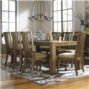 Signature Design by Ashley Birnalla 9-Piece Rectangular Extension Table Set - Item Number: D585-35+8x01
