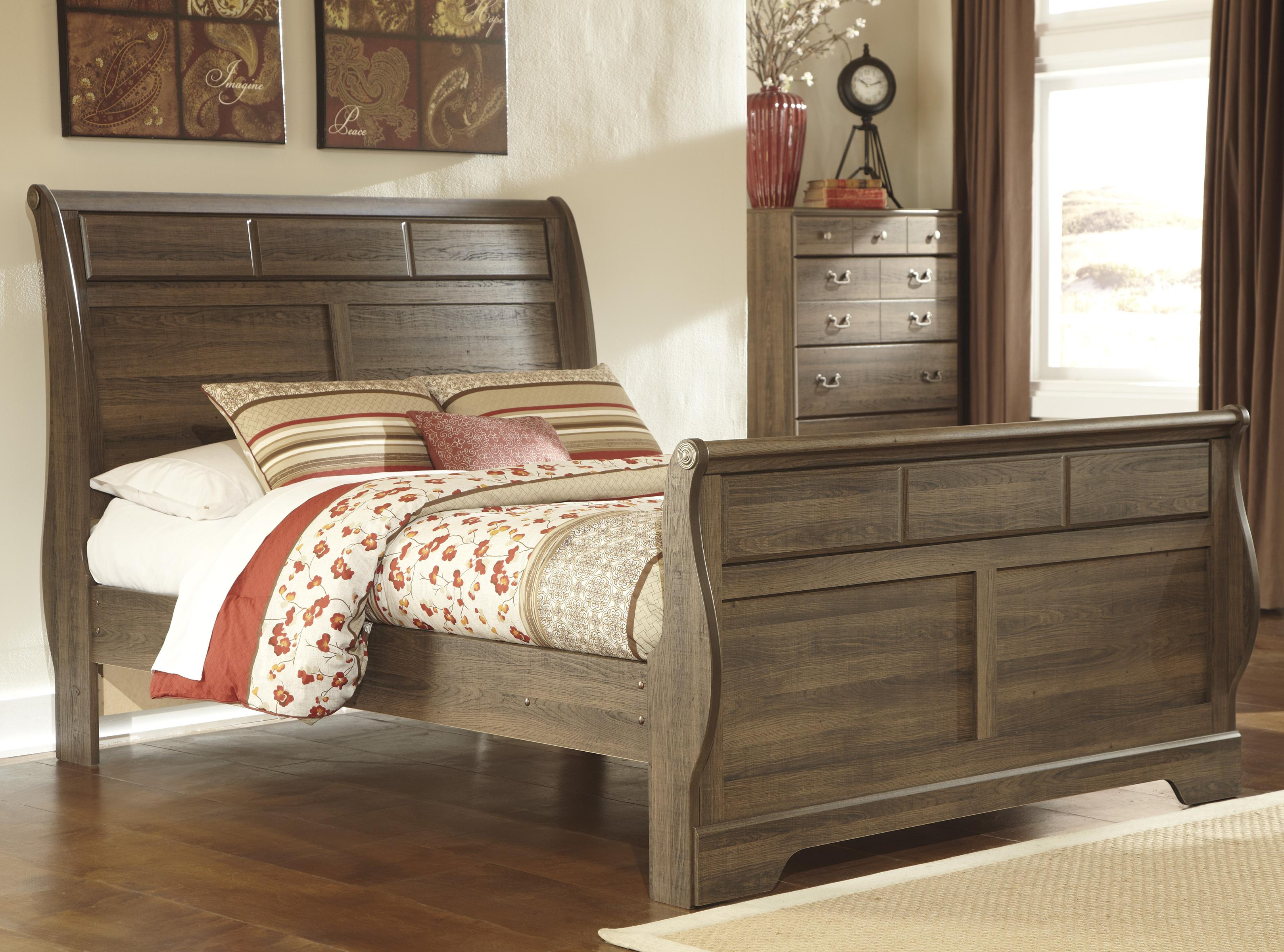 Signature Design by Ashley Allymore Queen Sleigh Bed - Item Number: B216-65+63+86