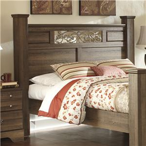Signature Design by Ashley Allymore Queen Poster Headboard Panel w/ Poster Posts