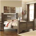 Signature Design by Ashley Allymore King Poster Bed - Item Number: B216-87+84+99+71