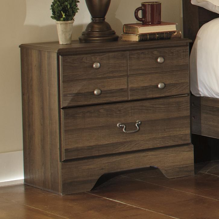 Signature Design by Ashley Allymore Two Drawer Night Stand - Item Number: B216-92