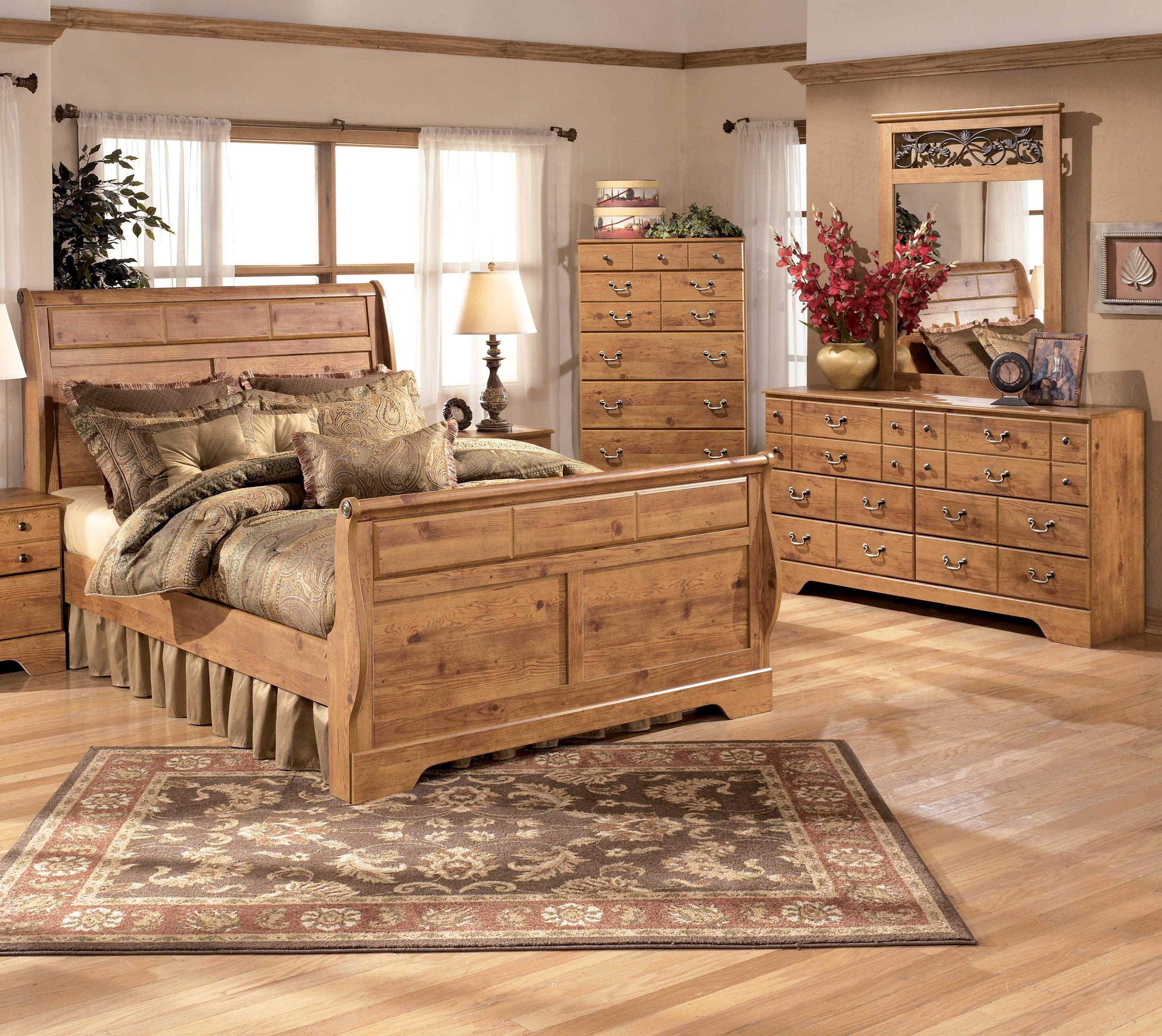 Signature Design by Ashley Bittersweet 4 Piece King Sleigh Bedroom Group - Item Number: B219 K 4 Piece