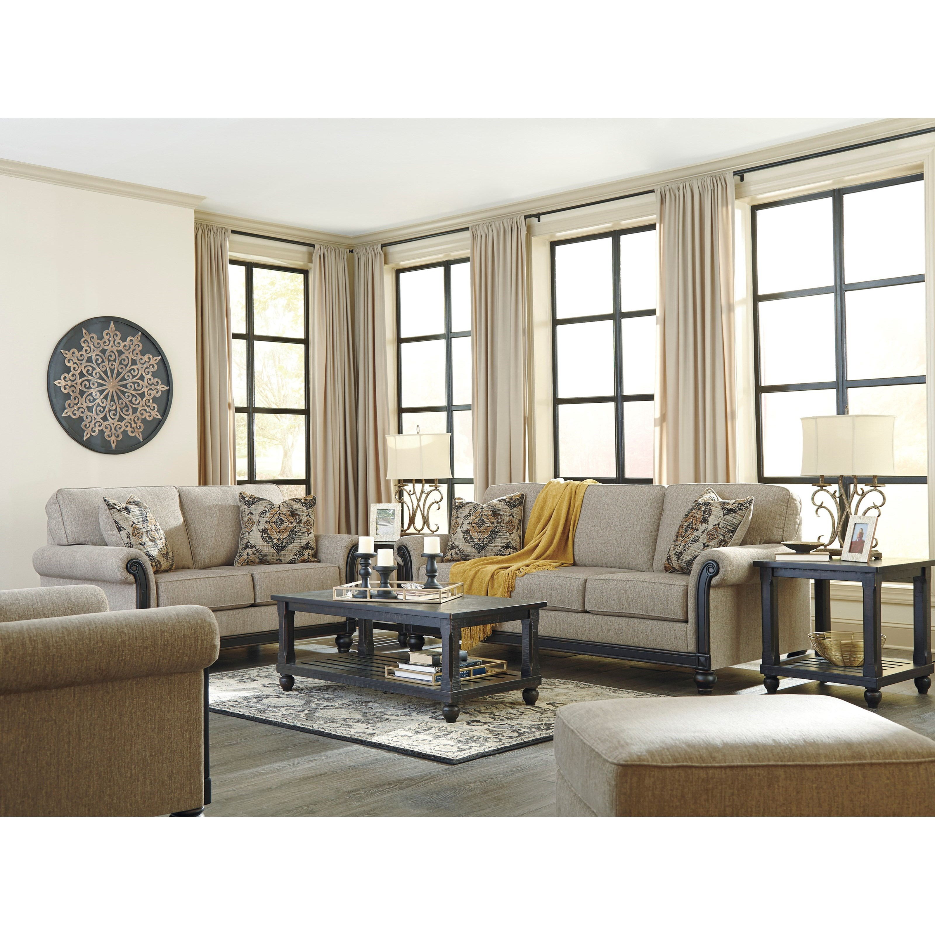 Ashley Furniture 14 Piece Package: Signature Design By Ashley Blackwood Transitional Chair