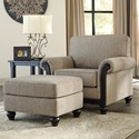 Signature Design by Ashley Blackwood Chair & Ottoman - Item Number: 3350320+14