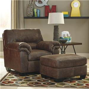 Signature Design by Ashley Bladen Chair & Ottoman