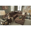 Signature Design by Ashley Bladen 3-Piece Faux Leather Sectional